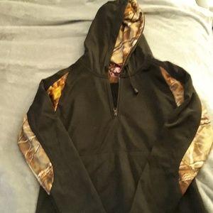 Black and camo hoodie